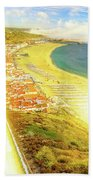 Nazare Skyline Sunset Beach Towel