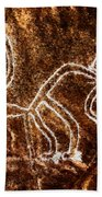 Nazca Monkey Beach Towel