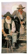 N.c. Wyeth: The Pay Stage Beach Towel