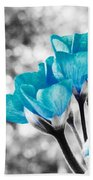 Near Bloom Blue Beach Towel