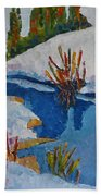 Near The Lake Beach Towel