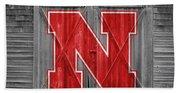 Nebraska Cornhuskers Barn Doors Beach Towel