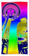 Needle And Ferris Wheel Fractal Beach Towel