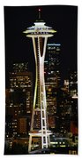 Needle At Night Beach Towel