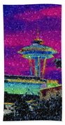 Needle In Mosaic 2 Beach Towel