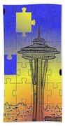 Needle Jigsaw Beach Towel