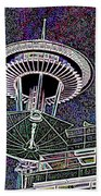 Needle Over Fisher Plaza Beach Towel