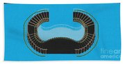 Negative Stair 45 Blue Background Architect Architecture Beach Towel