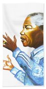 Nelson Mandela Beach Towel