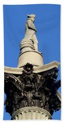 Nelson's Column, Trafalgar Square, London Beach Towel