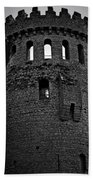 Nenagh Castle Tower Bw Beach Towel