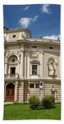 Neo Renaissance Architecture Of The Slovenian National Opera And Beach Towel