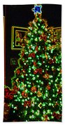 Neon Christmas Tree Beach Towel