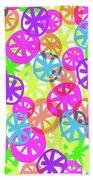 Neon Circles Beach Sheet