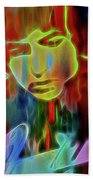 Neon Color Bob Dylan Beach Towel