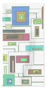 Neon Geometrics 2 Beach Towel