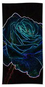 Neon Rose 3 Beach Towel