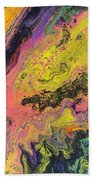 Neon Swirl Beach Towel