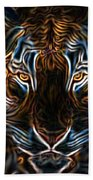 Neon Tigress Beach Towel