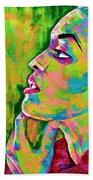 Neon Vibes Painting Beach Sheet
