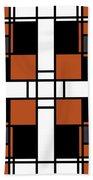 Neoplasticism Symmetrical Pattern In Tijuna Gamboge Beach Towel