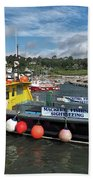 Neptune At The Harbour Beach Towel