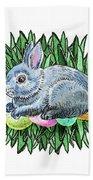 Nesting Easter Bunny Beach Towel