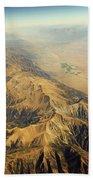 Nevada Mountain Terrain Aerial Beach Towel