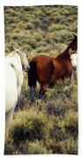 Nevada Wild Horses Beach Towel by Marty Koch