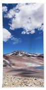 Nevado Ojos Del Salado And Laguna Negra Beach Towel