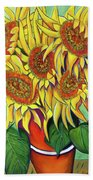 Never Enough Sunflowers Beach Towel by Andrea Folts
