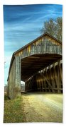 Nevins Covered Bridge Beach Towel