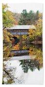 New England Covered Bridge No.63 Beach Towel
