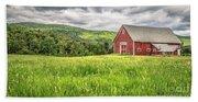 New England Farm Landscape Beach Sheet