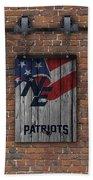 New England Patriots Brick Wall Beach Towel