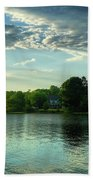 New England Scenery Beach Towel