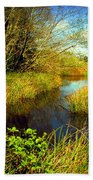 New Growth At The Pond Beach Towel