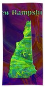 New Hampshire Map Beach Towel