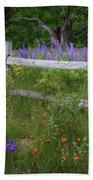 New Hampshire Wildflowers Beach Towel