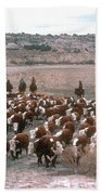 New Mexico Cattle Drive Beach Towel