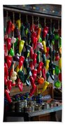 New Mexico Hanging Peppers Beach Towel