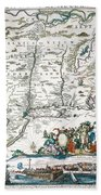 New Netherland Map Beach Towel