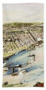 New Orleans, 1851 Beach Towel
