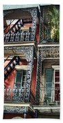 New Orleans Balconies No. 4 Beach Towel