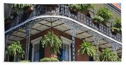 New Orleans Balcony Beach Towel