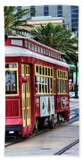 New Orleans Canal Streetcars  Beach Towel