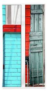New Orleans Doorways Diptych One Beach Towel