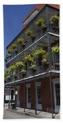 New Orleans French Quarter Beach Towel