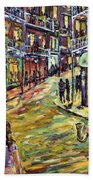 New Orleans Jazz Night By Prankearts Fine Art Beach Towel