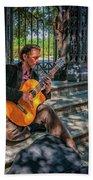 New Orleans Musician - Chris Craig Beach Towel